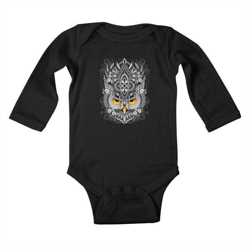 Wisdom Kids Baby Longsleeve Bodysuit by godzillarge's Artist Shop