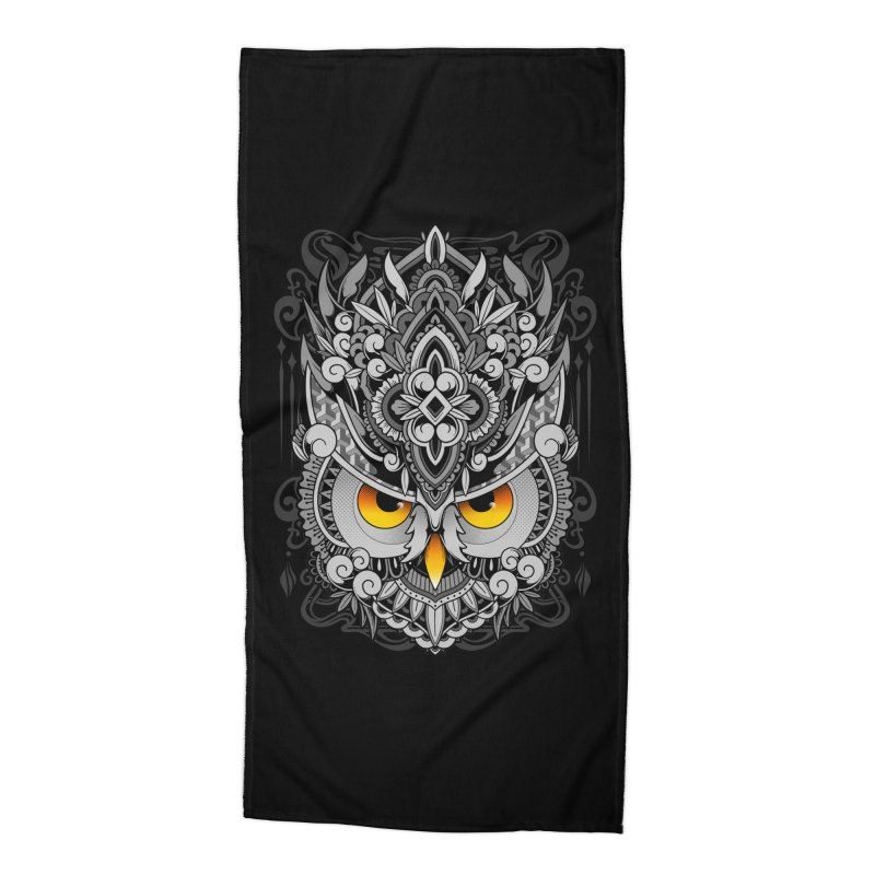 Wisdom Accessories Beach Towel by godzillarge's Artist Shop
