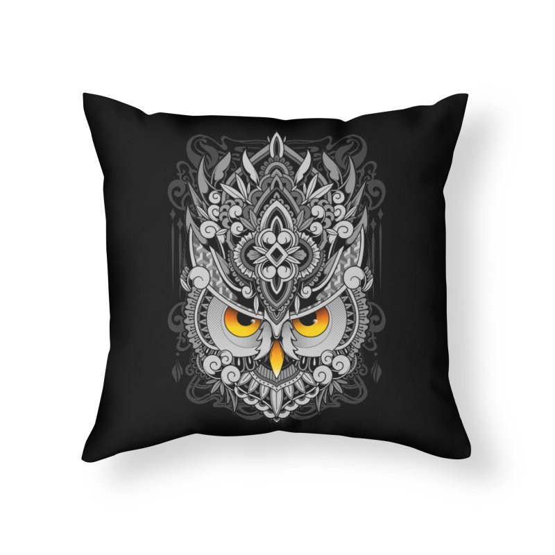 Wisdom Home Throw Pillow by godzillarge's Artist Shop