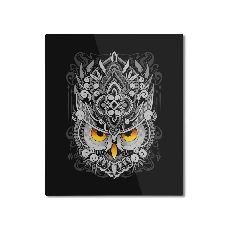 Wisdom Home Mounted Aluminum Print by godzillarge's Artist Shop