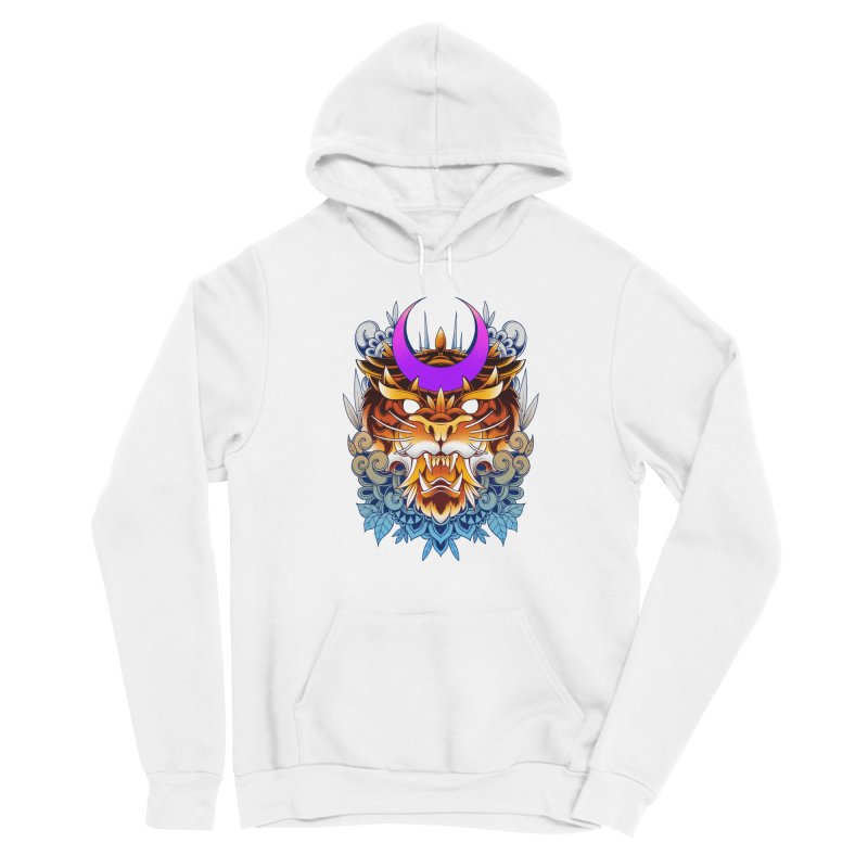 Tiger Moon Men's Pullover Hoody by godzillarge's Artist Shop