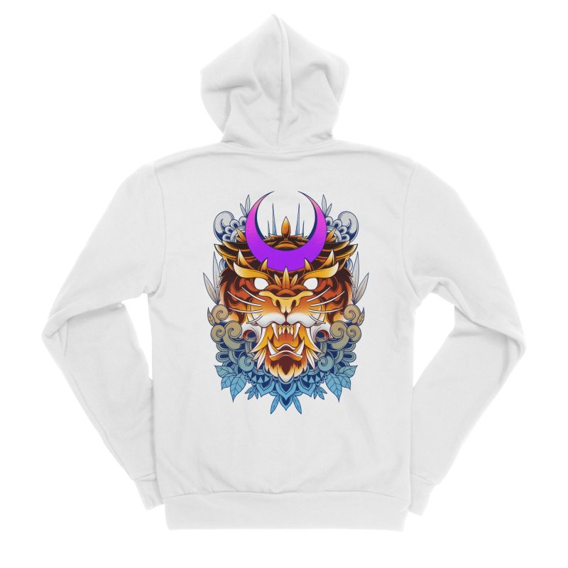 Tiger Moon Men's Zip-Up Hoody by godzillarge's Artist Shop