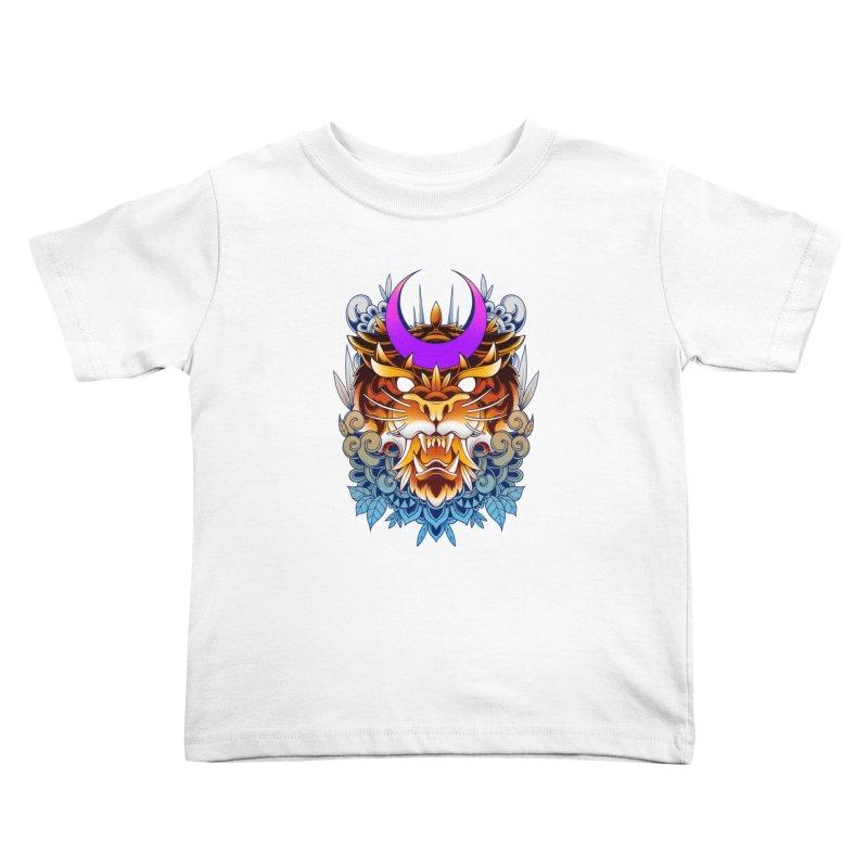 Tiger Moon Kids Toddler T-Shirt by godzillarge's Artist Shop