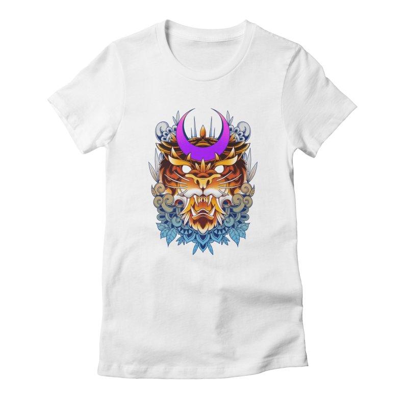 Tiger Moon Women's T-Shirt by godzillarge's Artist Shop
