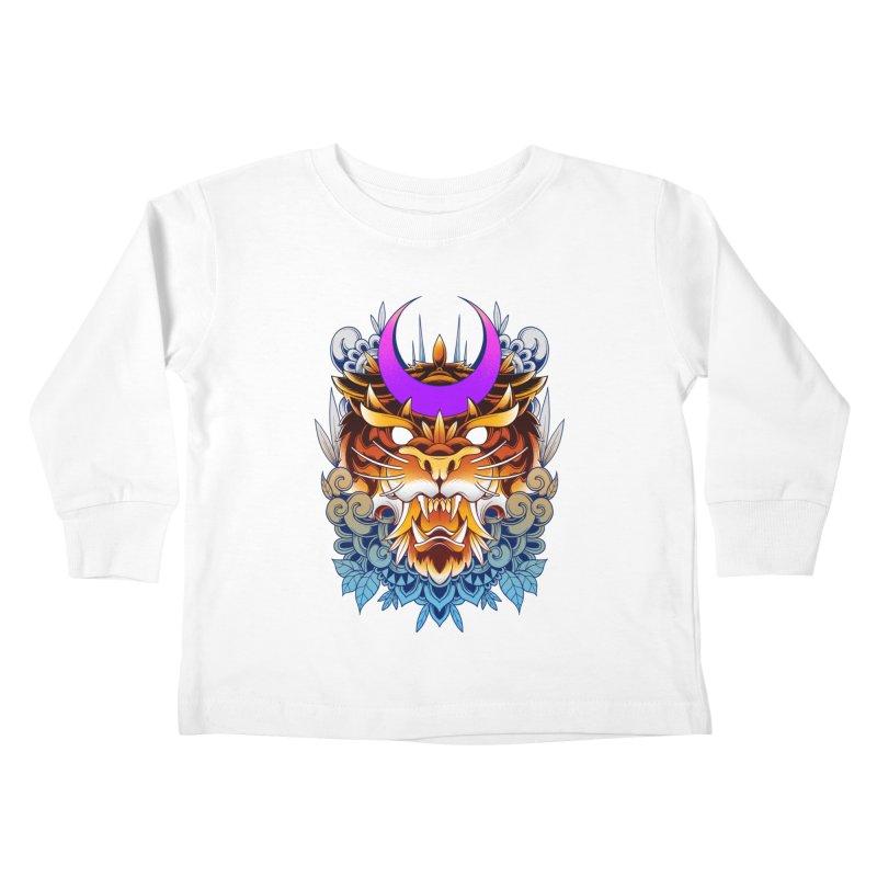 Tiger Moon Kids Toddler Longsleeve T-Shirt by godzillarge's Artist Shop