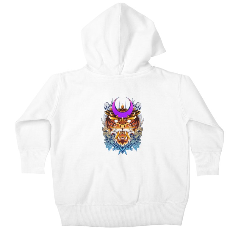 Tiger Moon Kids Baby Zip-Up Hoody by godzillarge's Artist Shop