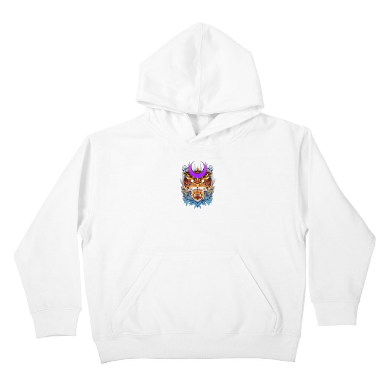 Tiger Moon Kids Pullover Hoody by godzillarge's Artist Shop
