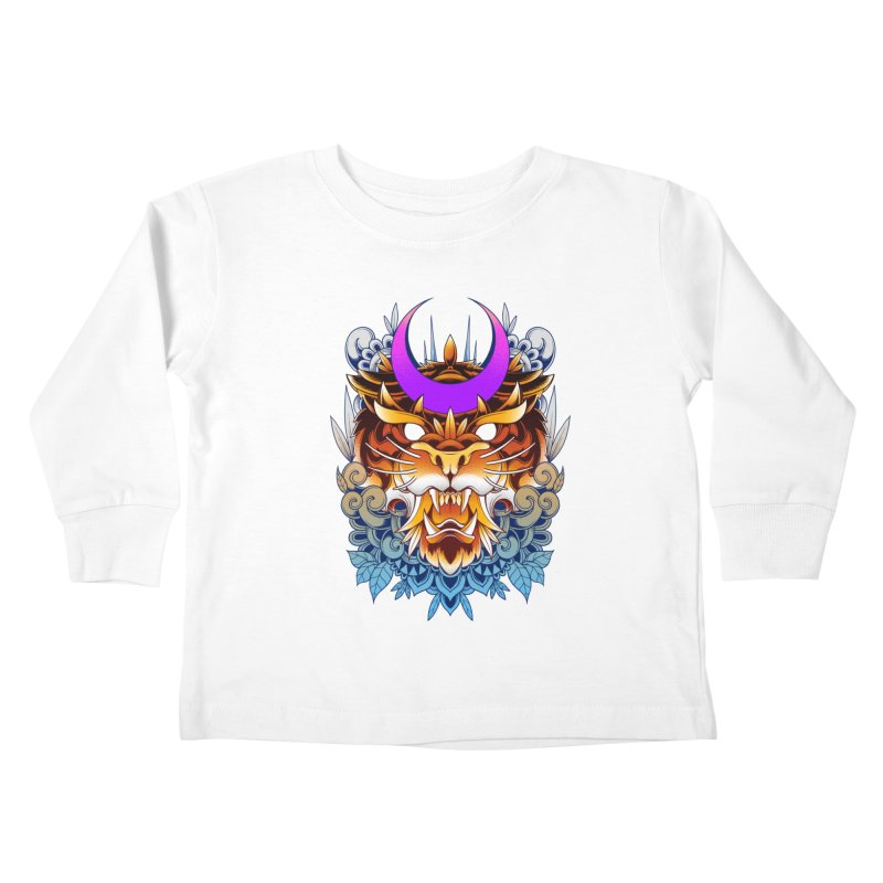 Tiger Moon Kids Toddler Longsleeve T-Shirt by godzillarge's Artist Shop