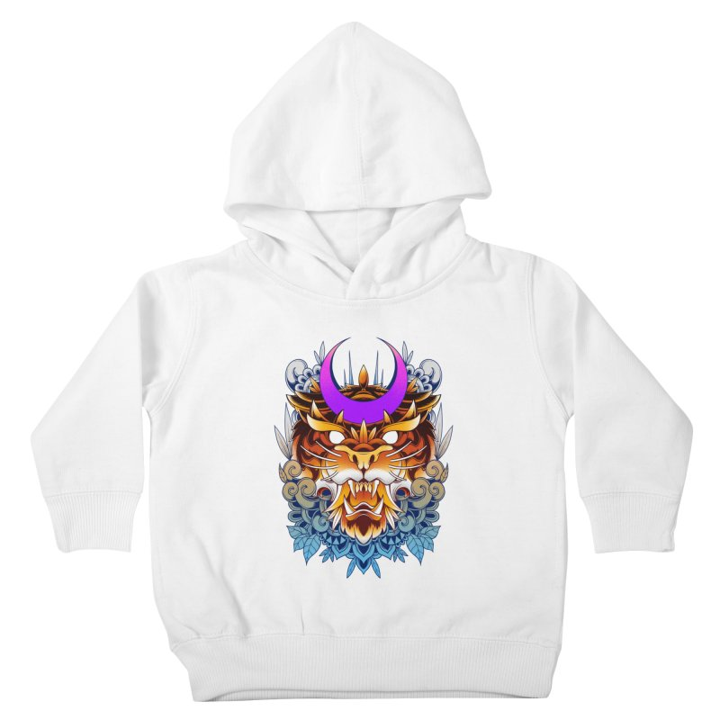 Tiger Moon Kids Toddler Pullover Hoody by godzillarge's Artist Shop