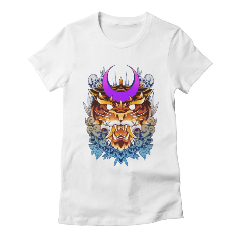 Tiger Moon Women's T-Shirt by godzillarge's Artist Shop