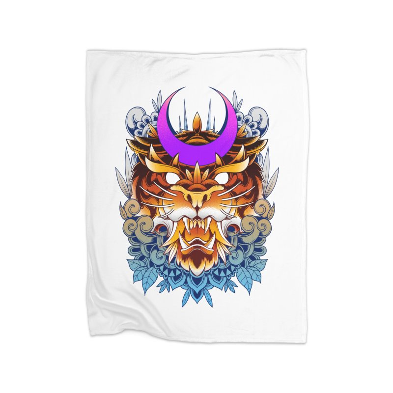 Tiger Moon Home Blanket by godzillarge's Artist Shop