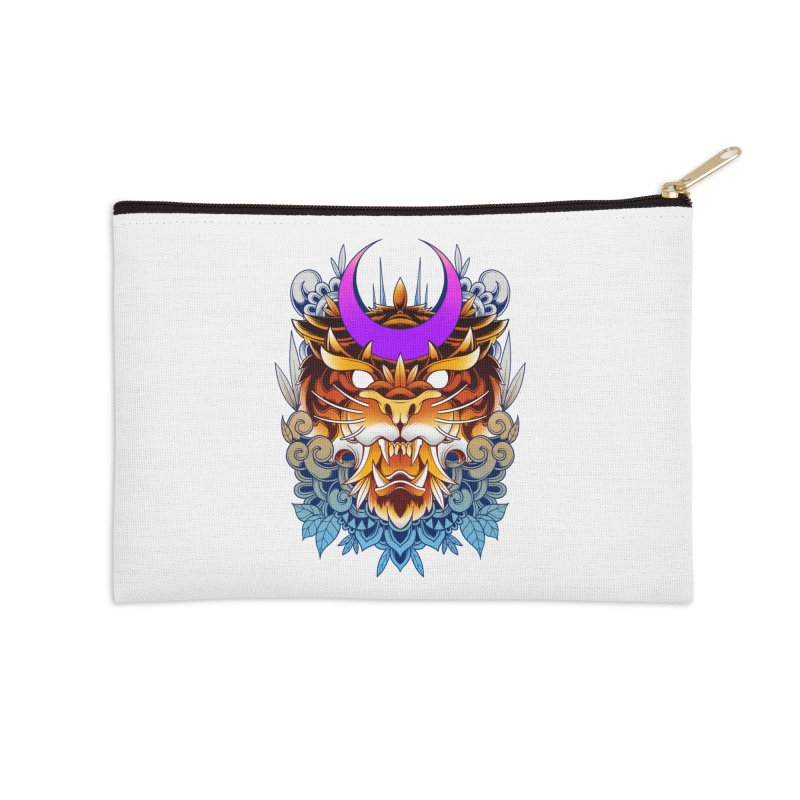 Tiger Moon Accessories Zip Pouch by godzillarge's Artist Shop
