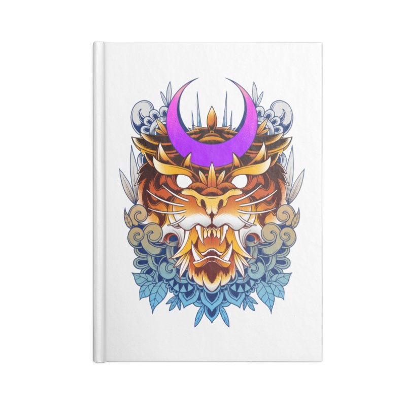 Tiger Moon Accessories Notebook by godzillarge's Artist Shop