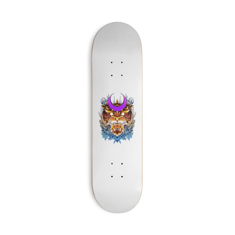 Tiger Moon Accessories Skateboard by godzillarge's Artist Shop