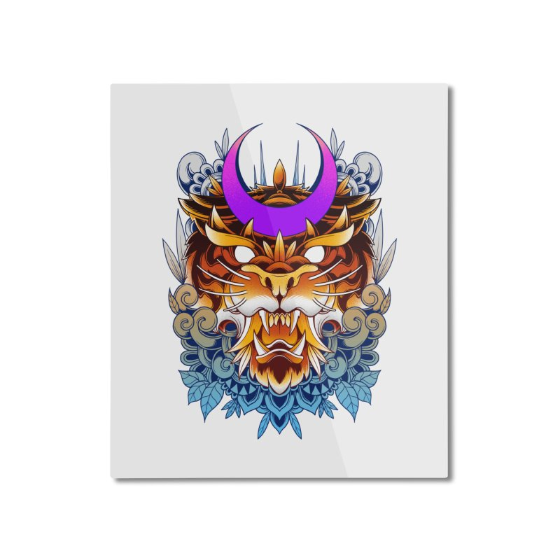Tiger Moon Home Mounted Aluminum Print by godzillarge's Artist Shop