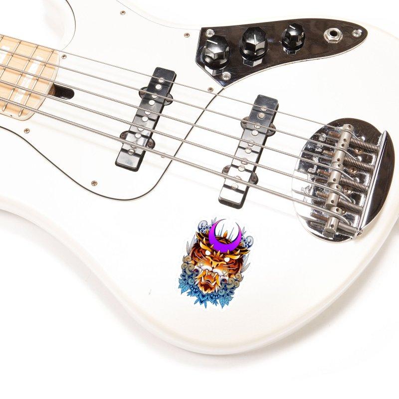 Tiger Moon Accessories Sticker by godzillarge's Artist Shop