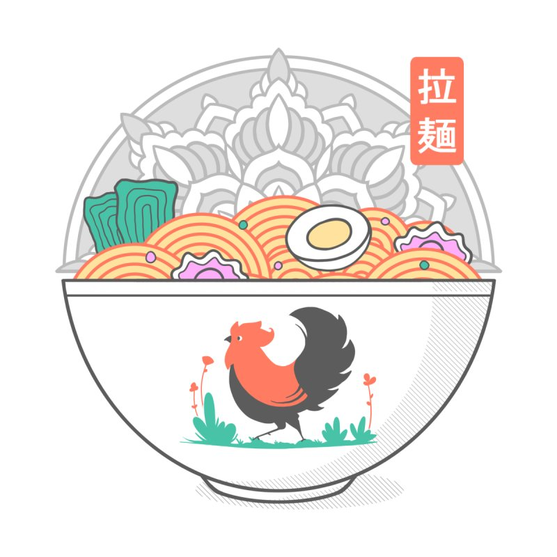 Sacred Ramen Accessories Sticker by godzillarge's Artist Shop