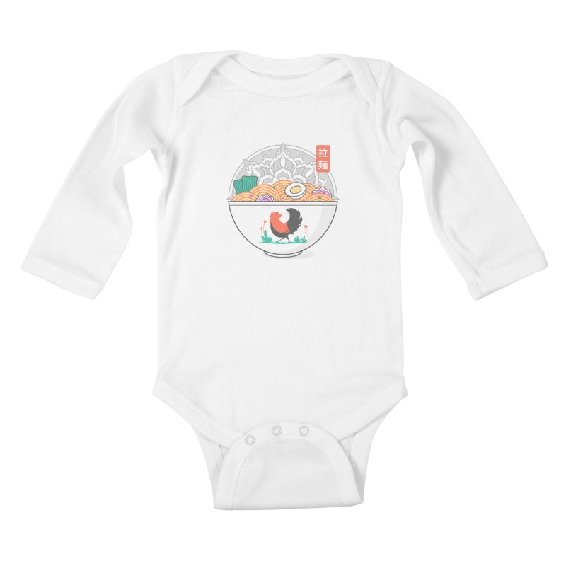 Sacred Ramen Kids Baby Longsleeve Bodysuit by godzillarge's Artist Shop