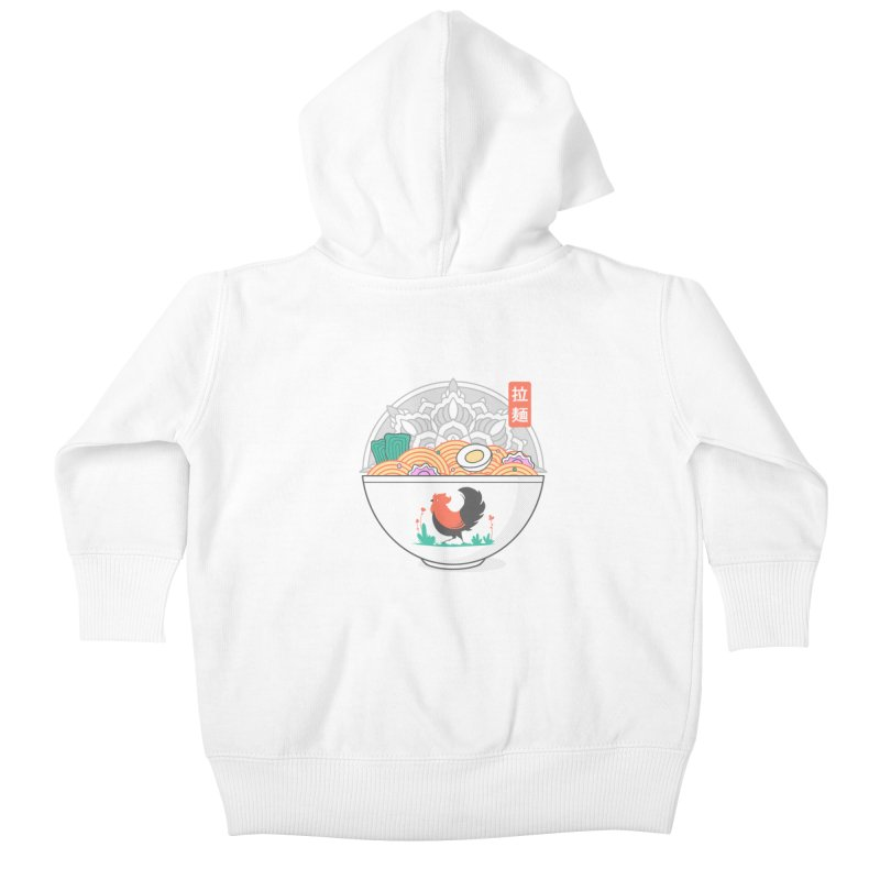 Sacred Ramen Kids Baby Zip-Up Hoody by godzillarge's Artist Shop