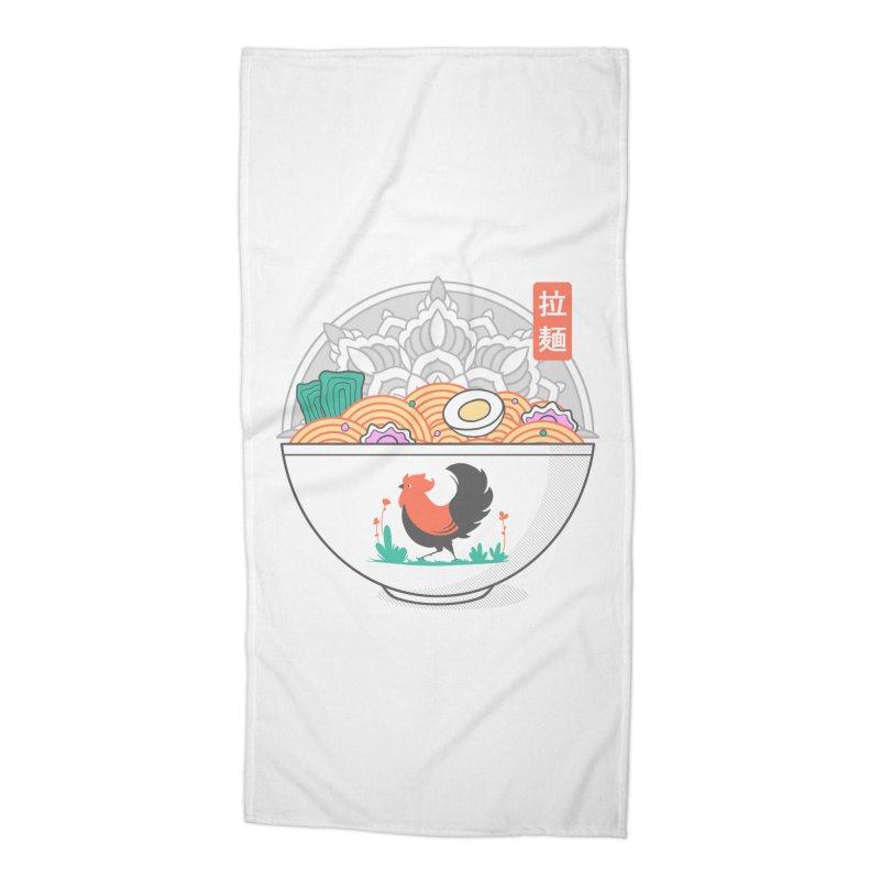 Sacred Ramen Accessories Beach Towel by godzillarge's Artist Shop