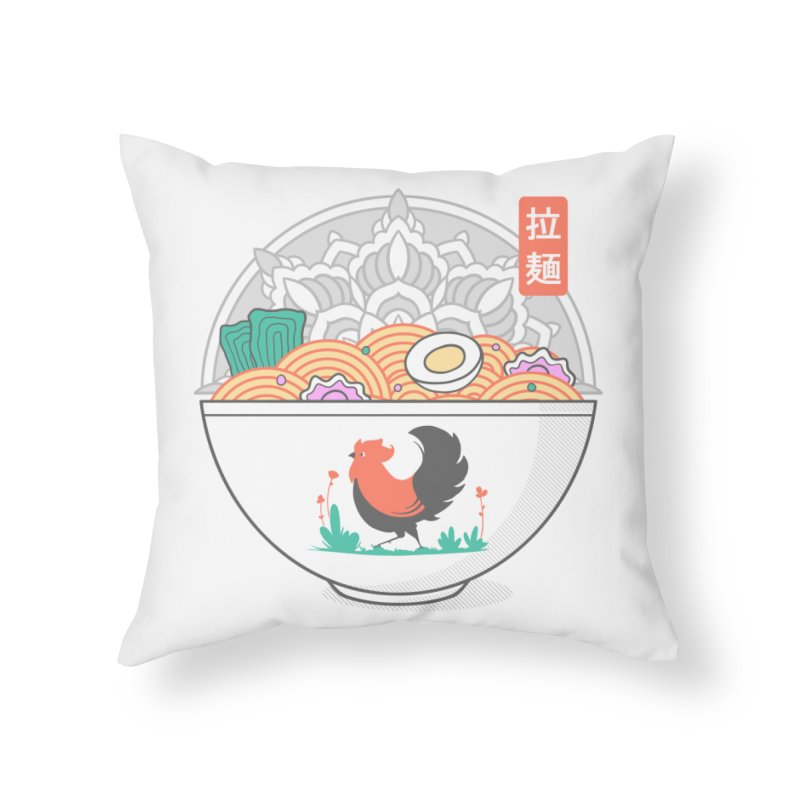 Sacred Ramen Home Throw Pillow by godzillarge's Artist Shop