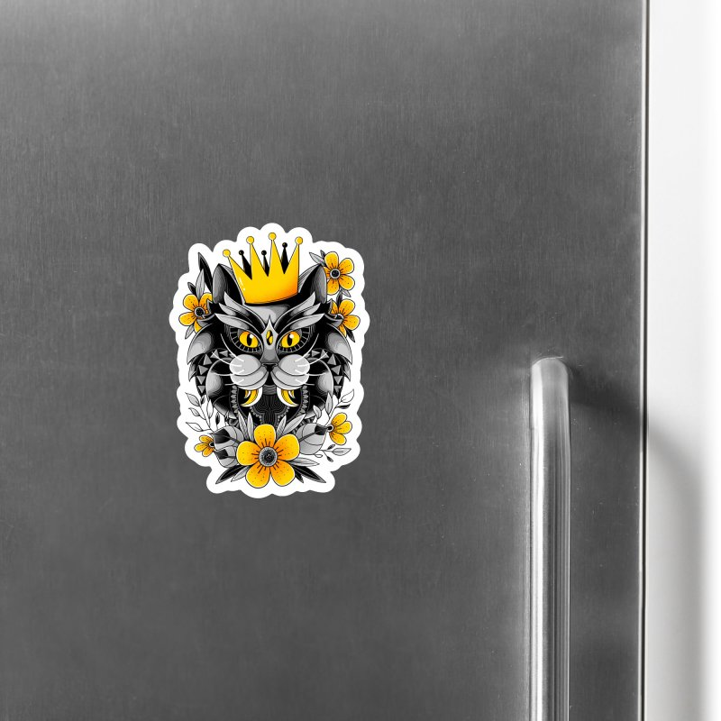 King of Purr Accessories Magnet by godzillarge's Artist Shop