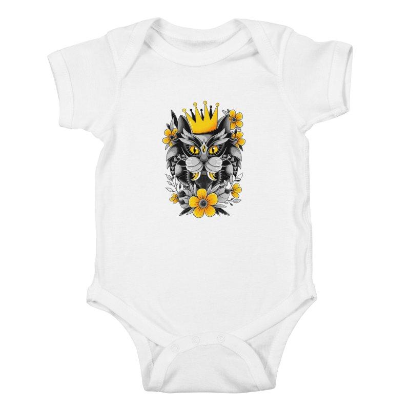 King of Purr Kids Baby Bodysuit by godzillarge's Artist Shop