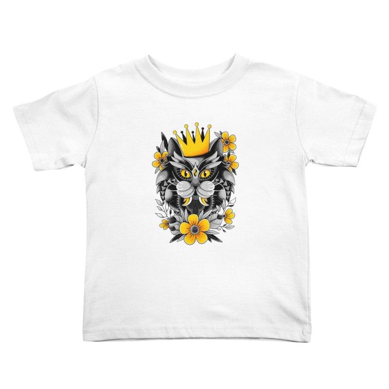 King of Purr Kids Toddler T-Shirt by godzillarge's Artist Shop