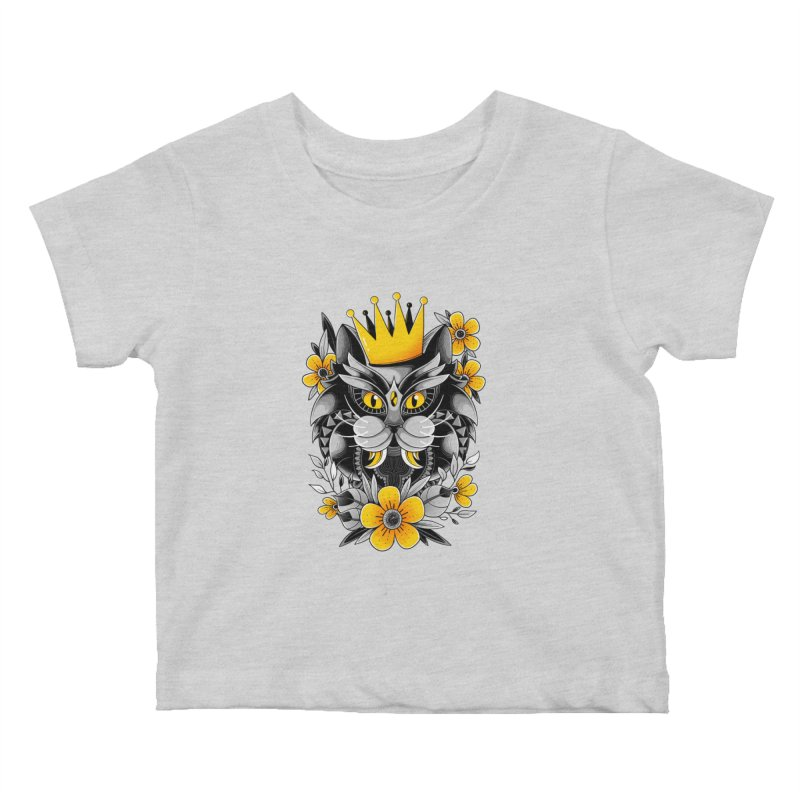 King of Purr Kids Baby T-Shirt by godzillarge's Artist Shop