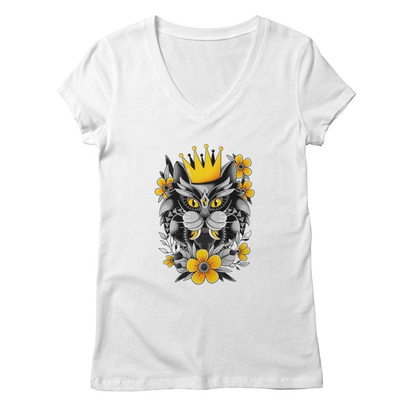 King of Purr Women's V-Neck by godzillarge's Artist Shop