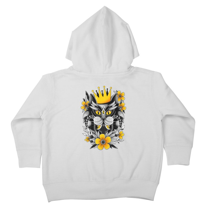 King of Purr Kids Toddler Zip-Up Hoody by godzillarge's Artist Shop