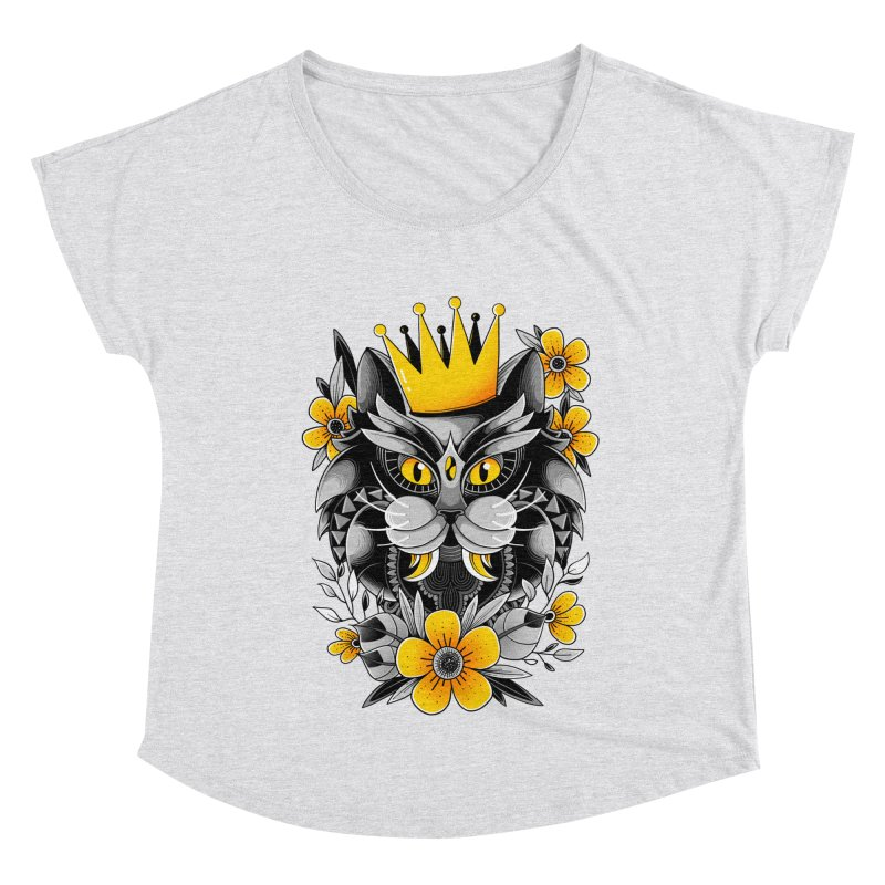 King of Purr Women's Scoop Neck by godzillarge's Artist Shop