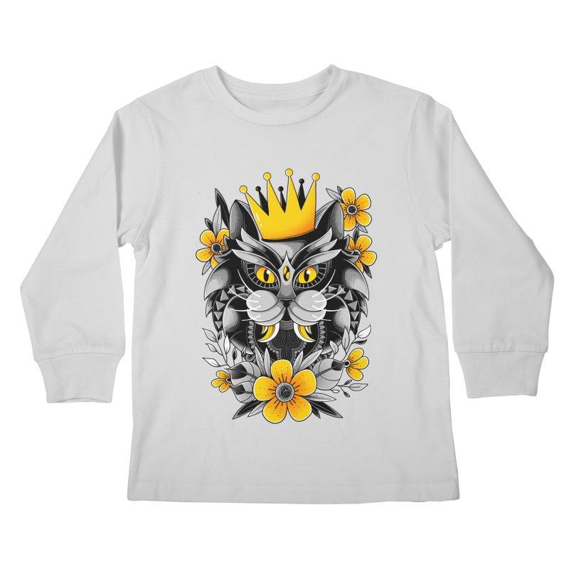 King of Purr Kids Longsleeve T-Shirt by godzillarge's Artist Shop