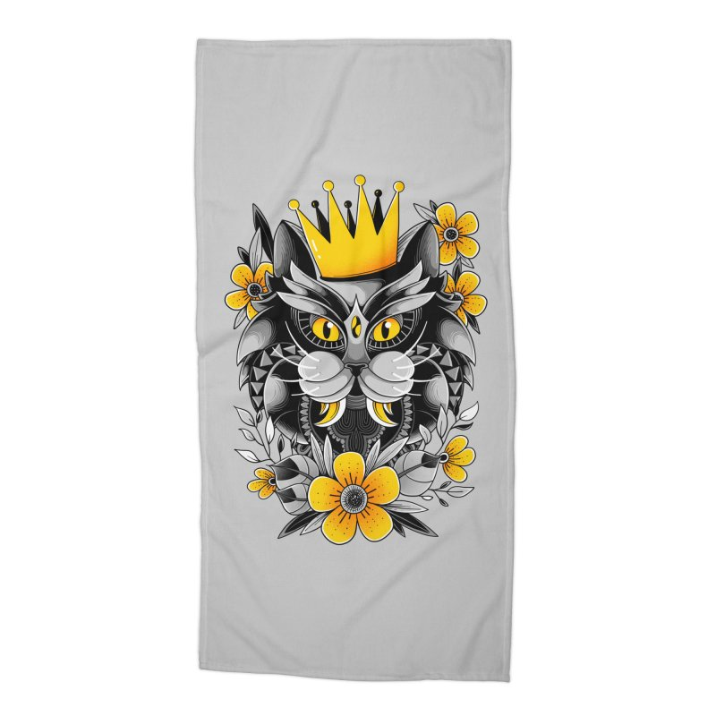 King of Purr Accessories Beach Towel by godzillarge's Artist Shop