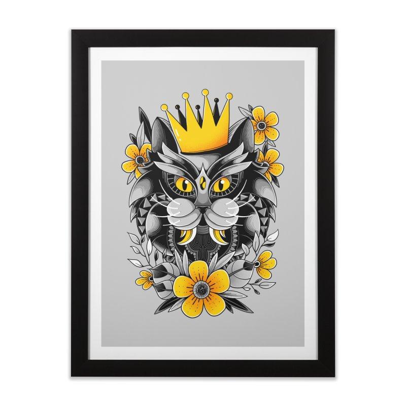 King of Purr Home Framed Fine Art Print by godzillarge's Artist Shop