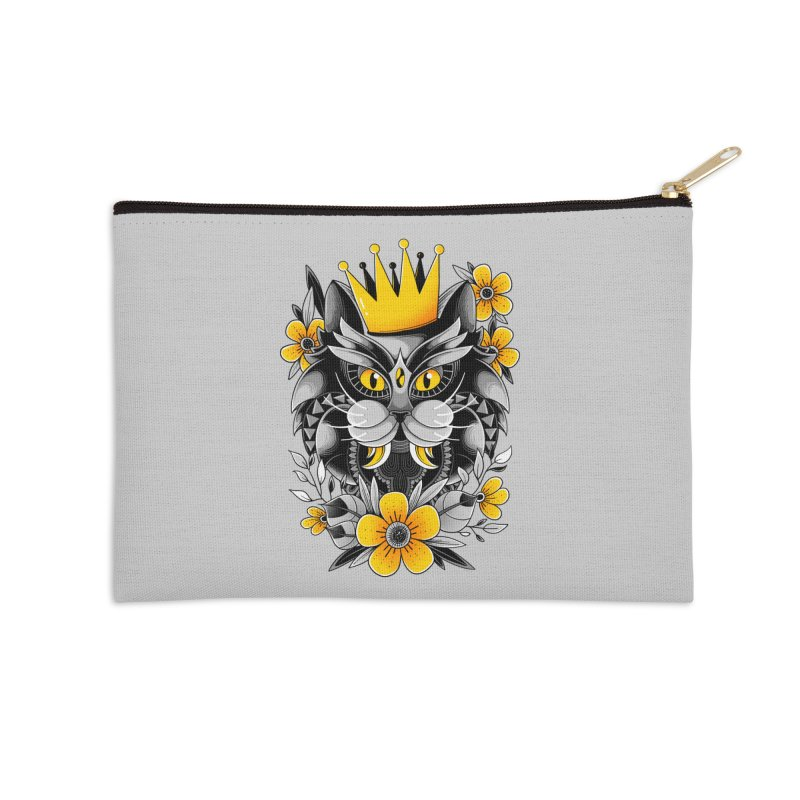 King of Purr Accessories Zip Pouch by godzillarge's Artist Shop