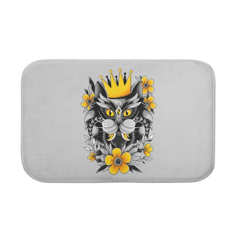 King of Purr Home Bath Mat by godzillarge's Artist Shop