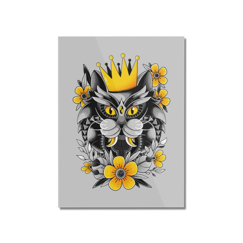 King of Purr Home Mounted Acrylic Print by godzillarge's Artist Shop