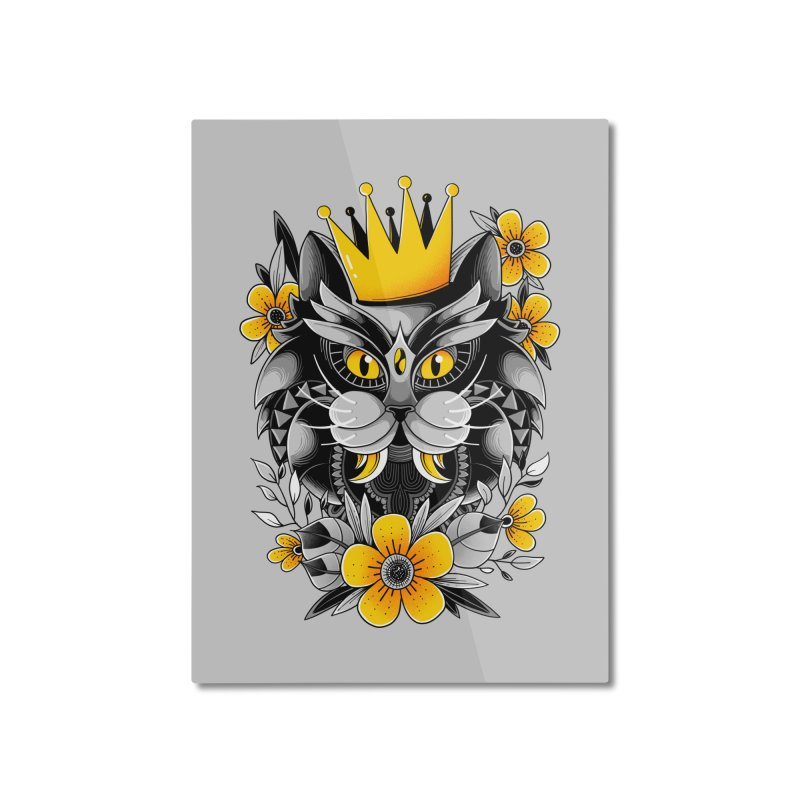 King of Purr Home Mounted Aluminum Print by godzillarge's Artist Shop