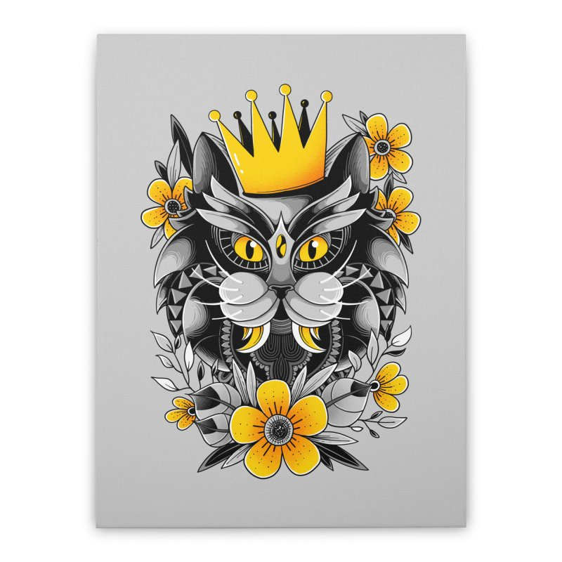 King of Purr Home Stretched Canvas by godzillarge's Artist Shop