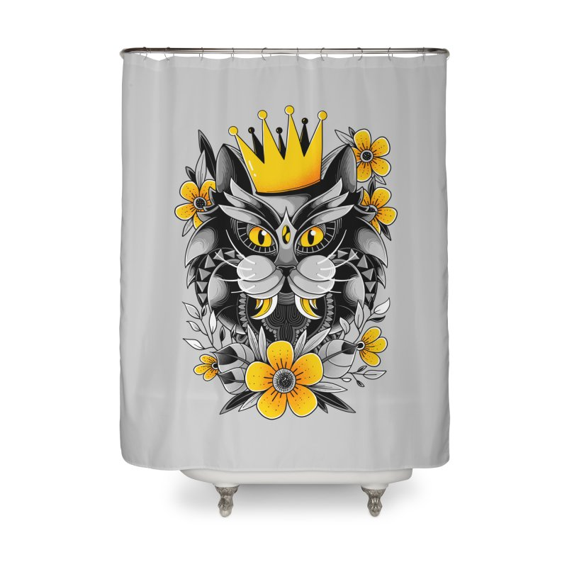 King of Purr Home Shower Curtain by godzillarge's Artist Shop