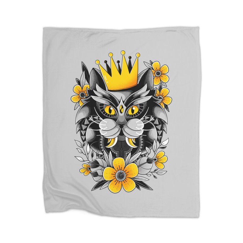 King of Purr Home Blanket by godzillarge's Artist Shop
