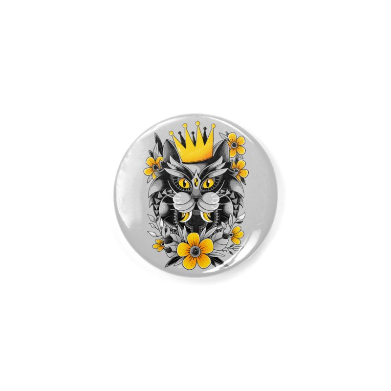 King of Purr Accessories Button by godzillarge's Artist Shop