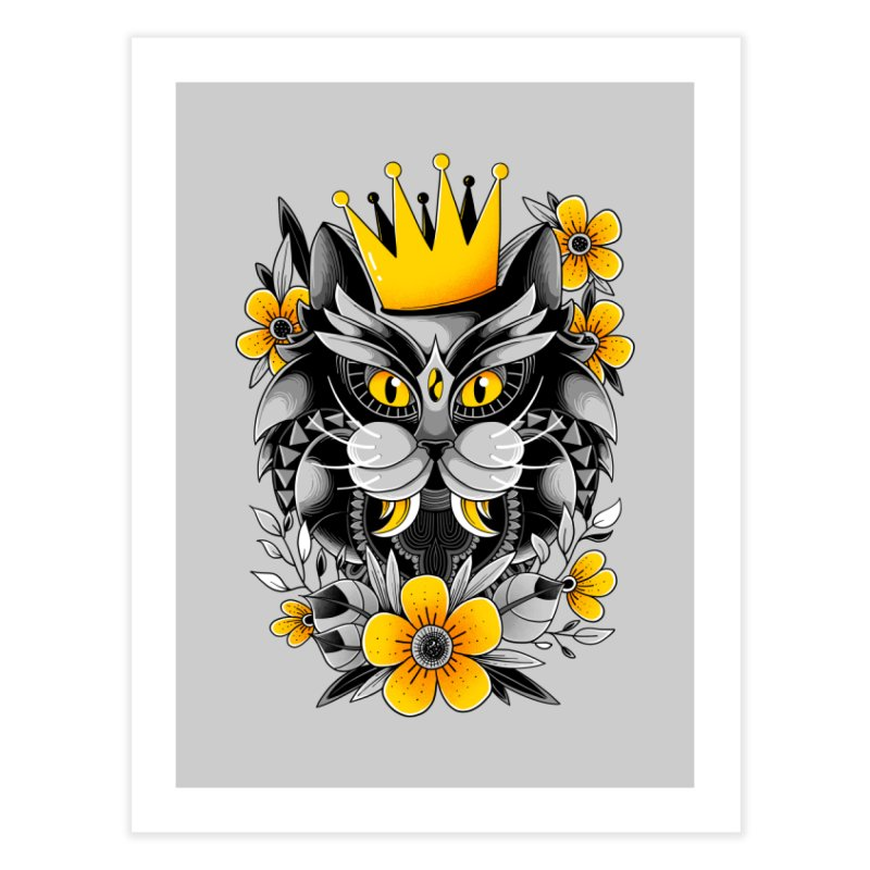 King of Purr Home Fine Art Print by godzillarge's Artist Shop