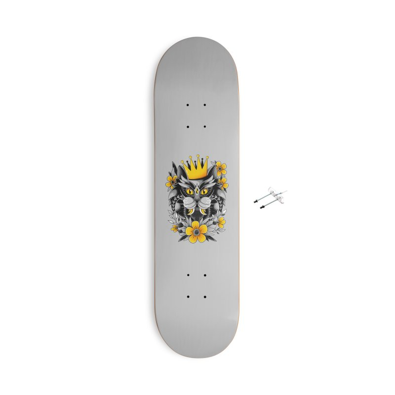 King of Purr Accessories Skateboard by godzillarge's Artist Shop
