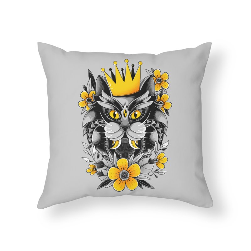 King of Purr Home Throw Pillow by godzillarge's Artist Shop