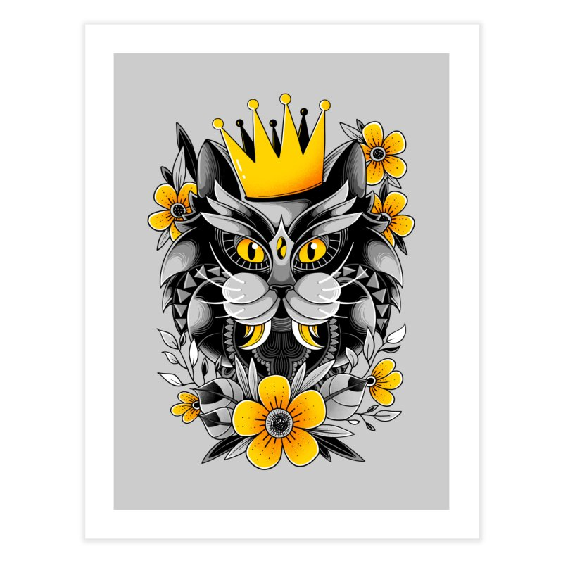 King of Purr Home Fine Art Print by godzillarge's Artist Shop