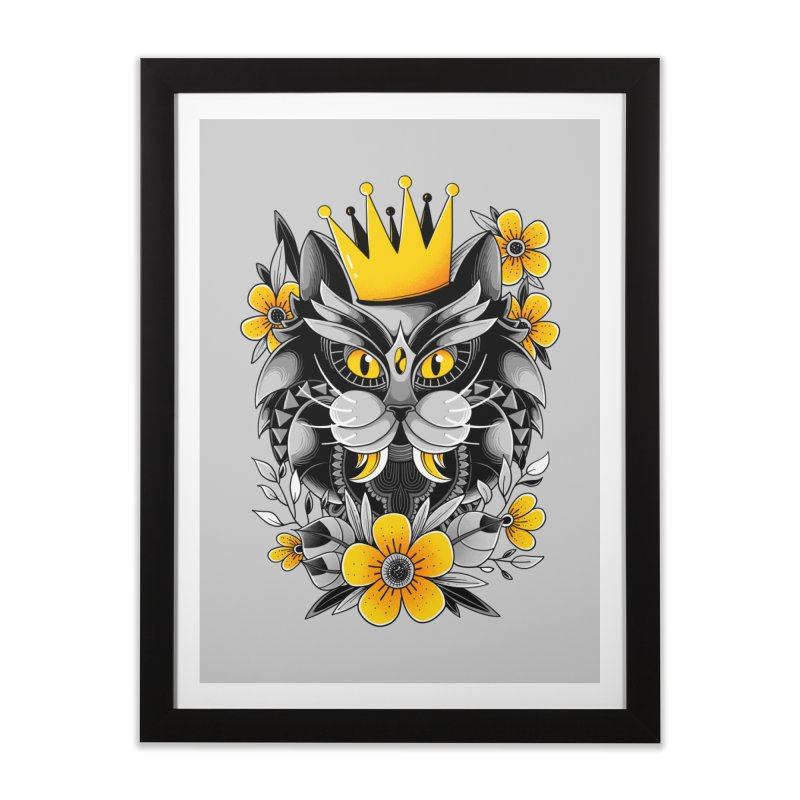 King of Purr Home Framed Fine Art Print by godzillarge's Artist Shop