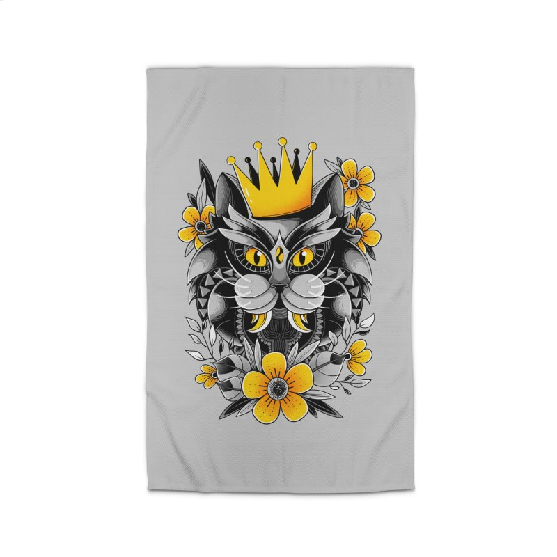 King of Purr Home Rug by godzillarge's Artist Shop
