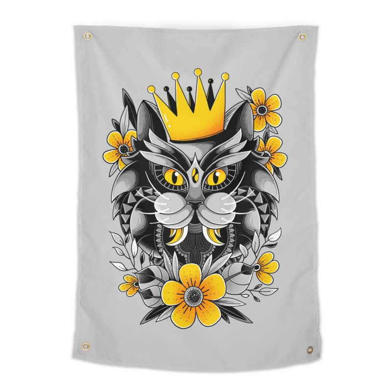 King of Purr Home Tapestry by godzillarge's Artist Shop
